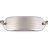 Stainless Steel Plain / Name Child ID Bracelet