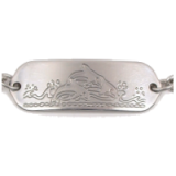Stainless Steel Dolphins Child ID Bracelet