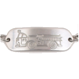 Stainless Steel Fire Truck Child ID Bracelet