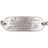 Stainless Steel Locomotive Child ID Bracelet