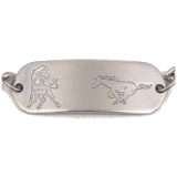 Stainless Steel Horses Child ID Bracelet