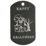 Aluminum Black Haunted House Halloween Idea