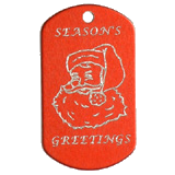 Aluminum Red Santa Christmas Tag