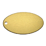 Aluminum Gold Oval Key Tag