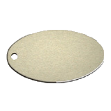 Oval<br/>Key Tag<br/>Aluminum Silver