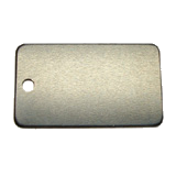 Aluminum Black Rectangle Luggage Tag