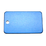 Aluminum Blue Rectangle Luggage Tag