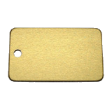 Aluminum Gold Rectangle Luggage ID Tag