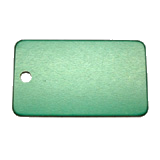 Aluminum Green Rectangle Luggage ID Tag