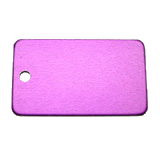 Aluminum Purple Rectangle Luggage Tag