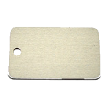 Aluminum Silver Rectangle Luggage ID Tag