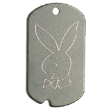 Aluminum Black PB Bunny Military Dog Tag