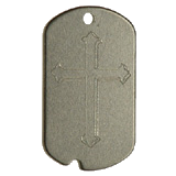 Aluminum Black Cross Military Dog Tag