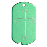 Aluminum Green Cross Military Dog Tag