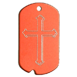 Aluminum Red - Cross Military Dog Tag