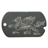 Aluminum Black Dragon Military Dog Tag