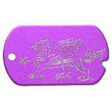 Aluminum Purple Dragon Military Dog Tag