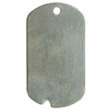 Stainless Steel Notched GI Dog Tag
