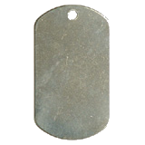 Stainless Steel Un-Notched GI Dog Tag