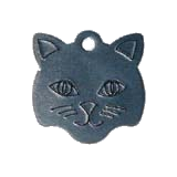 Aluminum Black Large Cat Pet Tag