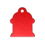 Aluminum Red Hydrant Pet ID