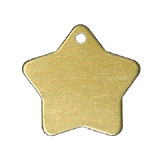 Aluminum Gold Star Pet Tag