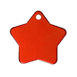 Aluminum Red Star Pet Tag