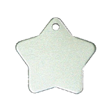 Aluminum Silver Star Pet Tag