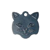 Aluminum Black Small Cat Pet Tag