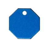 Aluminum Blue Octagon Pet Tag