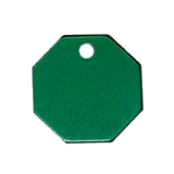 Aluminum Green Octagon Pet Tag