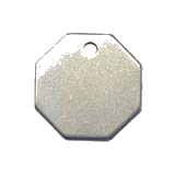 Stainless Steel Octagon Pet ID