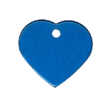 Aluminum Blue Heart Pet ID