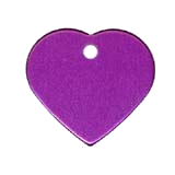 Aluminum Purple Heart Pet ID
