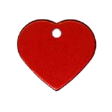 Aluminum Red Heart Pet ID